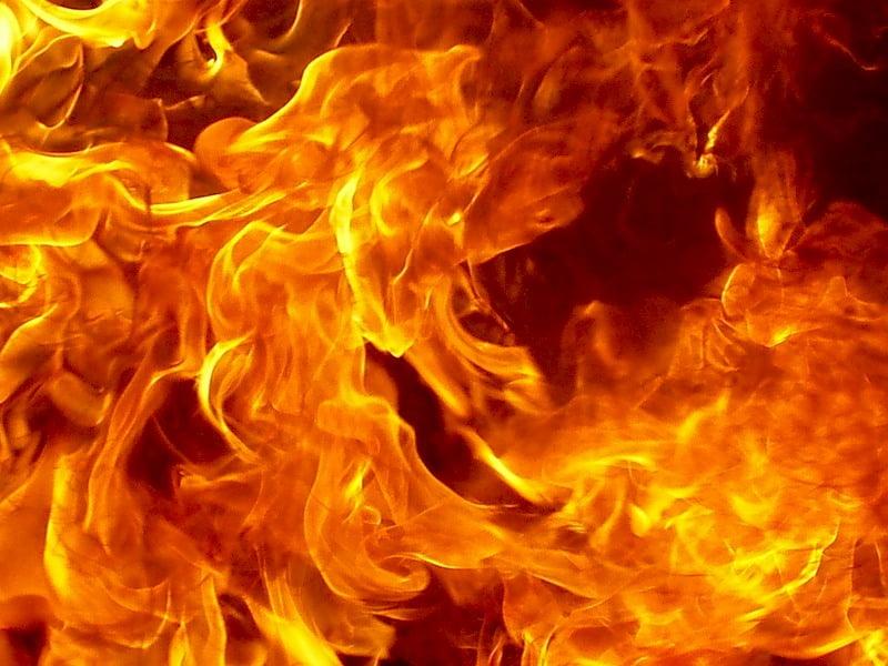 В Харькове горела баня