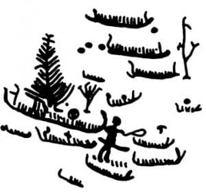 Дерево: Древовидные знаки и суда. Наскальные рисунки бронзового века. Швеция