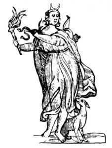 Диана с серпом Луны. В. Картари, 1647 г.