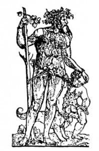 Дикие люди: Лесной человек и его ребенок. Резьба по дереву. Ганс Шойфелайн, ок. 1520 г.