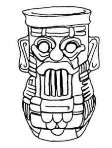 Дождь: Древнемексикан ский бог дождя Тлалок. Нефритовый сосуд. Сапотекская культура
