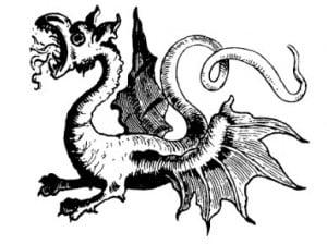 Дракон. Иллюстрация из детской книги Франца Поччи, 1846 г.