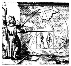 """Дуалистические системы: Эмблема соединения двух начал — """"мужчина/женщина"""" — в целях создания более высокого единства у алхимиков. М. Майер. Аталанта бегущая, 1618 г."""