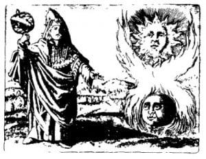 Дуалистические системы: Солнце и Луна (представление алхимиков о полярности). М. Майер. Символы, 1617 г.